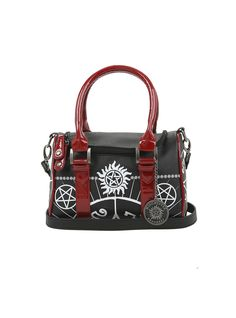 The perfect bag for all your possessions // Supernatural Anti-Possession Symbol Barrel Bag