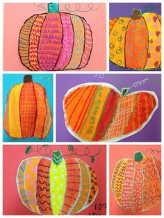 Grade Romero Britto Inspired Pumpkins (For the Love of Art) – Education is important Line Art Projects, Fall Art Projects, School Art Projects, First Grade Art, 2nd Grade Art, Grade 2, Line Art Lesson, Art Lesson Plans, October Art
