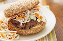 Relish! Recipe // Gingered Burgers with Slaw