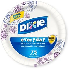 """Dixie Everyday Paper Plates, 10.0625"""", 75 count - $6"""