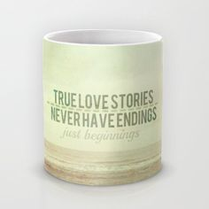 valentines love quote mug   whimsical nature by secretgardentwo, £12.00