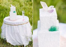 Iridescent inspired wedding ideas | Photo by Anne Brookshire Photography | Read more - http://www.100layercake.com/blog/?p=66171