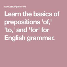 """Prepositions """"On,"""" """"At,"""" """"In"""" - Basic English Grammar Grammar And Vocabulary, Prepositions, English Grammar, Education, Learning, Composition, Studying, Teaching, Onderwijs"""