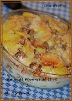 Gratin de pommes de terre & champignons