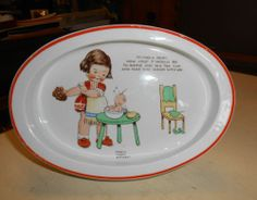 Shelley Art Deco Mabel Lucie Attwell Oval Baby Dish If I Had a fairy 1930s