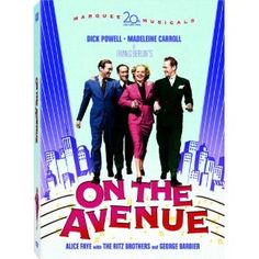 """On the Avenue (DVD) : """"When Gary Blake's new show starring Mona Merrick premieres, it angers socialite Mimi Carraway. Alice Faye, Video Cd, Irving Berlin, Musical Film, Broadway Plays, Classic Movie Posters, Gene Kelly, Art Deco Posters"""