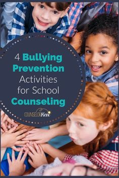 Looking for bullying prevention activities to get your students engaged with one another in meaningful ways? You'll love these 4 activities for bullying classroom guidance lessons in your school counseling program! Bullying Activities, Kindness Activities, Counseling Activities, Career Counseling, Elementary School Counseling, School Counselor, Elementary Schools, Behavior Interventions, Bullying Prevention