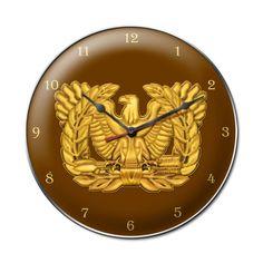 Warrant Officer Rising Eagle Clock