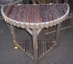 half moon rustic table