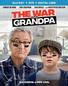Inspired by Savannah: Bring The War with Grandpa Home for a Laugh Out Loud Family Movie Night - Review + #Giveaway #WarWithGrandpa Family Movie Night, Family Movies, Funny Movies, Great Movies, Rob Riggle, Tom J, Uma Thurman, Universal Pictures, Robert De Niro