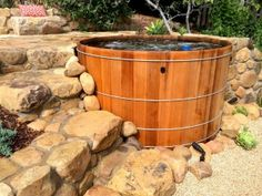 You Simply Can't Buy a Better Western Red Cedar Hot Tub! Ordering your Western Red Cedar Hot Tub is easier than ever before. Spas, Whirlpool Deck, Wood Tub, Wooden Bathtub, Round Hot Tub, Robert Wood, Hot Tub Deck, Hot Tub Garden, Cold Rolled