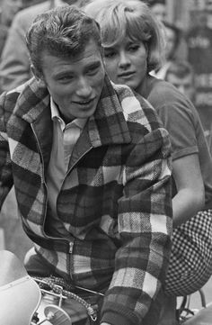 Johnny Hallyday & Sylvie Vartan. French iconic singing couple of the 60s