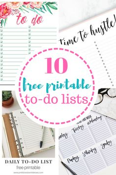 Printable to-do lists that allow you to stay on top of everything in style! Forever be organized with these free printable to-do lists. Printables, Printable To Do lists, To Do Lists, Free To Do List, Free Stuff, Organization, How to Stay Organized, Life Organization Tips, Organized Home