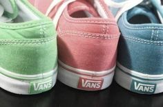Vans off the wall. Love these distressed colors.