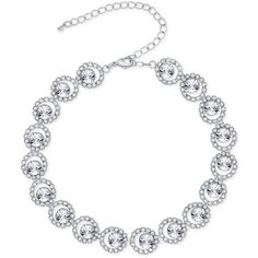 Say Yes to the Prom Silver-Tone Crystal Circle Choker Necklace, a BrandCruz Exclusive Style Prom Necklaces, Prom Jewelry, Girls Necklaces, Crystal Jewelry, Boho Jewelry, Wedding Jewelry, Fashion Jewelry, Silver Jewelry, Jewelry Necklaces