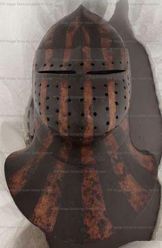 Malowany wielki basinet (1430 - 1450, Niemcy):