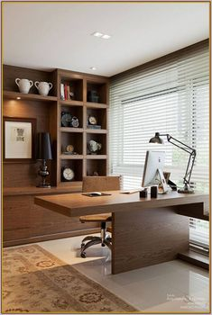 Inspiration Home Office Design Ideas. Hence, the demand for house offices.Whether you are planning on adding a home office or renovating an old room into one, right here are some brilliant home office design ideas to aid you get going. Office Table Design, Modern Office Design, Office Furniture Design, Office Interior Design, Modern House Design, Office Interiors, Home Interior, Office Designs, Office Ideas