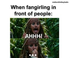 """""""When fangirling in front of people"""" meme -- LOL because it's true (and because it's Johnny Depp)."""