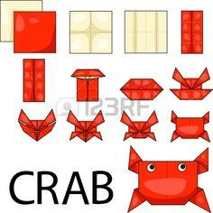 Illustrator tarisznyar k origami Stock fotó Origami Star Box, Origami Ball, Origami Fish, Paper Crafts Origami, Origami Stars, Diy Origami, Dollar Origami, Origami Flowers, Origami Instructions