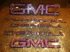 OneTrue Bling GMC pink emblem and Pink Stones