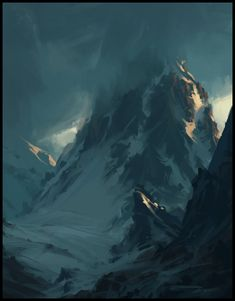 And the mountains blue by eeliskyttanen.deviantart.com on @deviantART