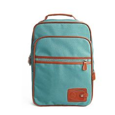 Pin it! :)  Follow us :))  zCamping.com is your Camping Product Gallery ;) CLICK IMAGE TWICE for Pricing and Info :) SEE A LARGER SELECTION of Camping Daypack Backpacks at http://zcamping.com/category/camping-categories/camping-backpacks/daypack-backpacks/ - camping, backpacks, daypacks camping gear, camp supplies - Como Mens Korea Fashion Three-dimensional Canvas Zippered Backpack Teal Blue « zCamping.com