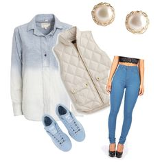 blue baby by aqeelah-katongole on Polyvore featuring polyvore mode style rag & bone/JEAN J.Crew adidas YooLa