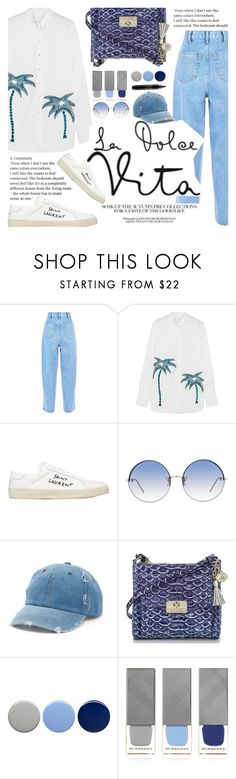 """""""Untitled #2220"""" by anarita11 ❤ liked on Polyvore featuring Victoria, Victoria Beckham, Yves Saint Laurent, Linda Farrow, Mudd, Burberry and MAC Cosmetics"""