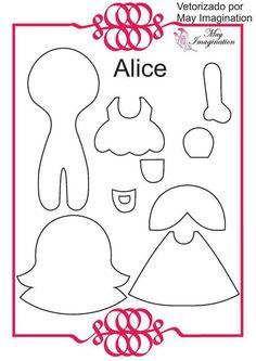 Mãe & Filha Artesanatos: Molde Personagens Alice no Pais das Maravilhas