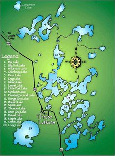 Chain Map - Three Lakes Area Chamber of Commerce Laurel Lake, Three Lakes, Big Lake, Payday Loans, Making Memories, Travel Ideas, Wisconsin, Vacations, Places To Go