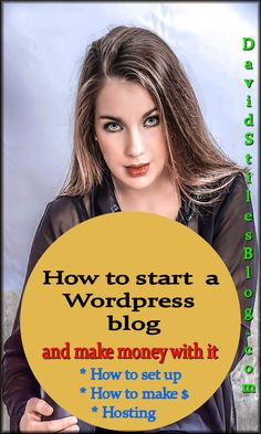 How to start a blog and make money with it. From: DavidStilesBlog.com #blog, #makeablog