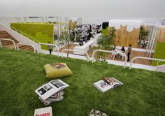 Sitting on the grass at TBWA Hakuhodo in Japan. | 28 Places Where You'd Rather Be Working Right Now