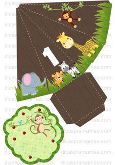 caixa para pipoca safari completo para editar e imprimir grátis - Pesquisa Google Jungle Theme Parties, Jungle Theme Birthday, Safari Theme Party, 1st Boy Birthday, Birthday Party Themes, Decoration Buffet, Deco Jungle, Minnie Mouse Birthday Decorations, Creative Birthday Cards