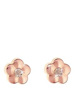 9 Carat Rose Gold Flower Stud Earrings with Peach Crystal Centre, http://www.very.co.uk/9-carat-rose-gold-flower-stud-earrings-with-peach-crystal-centre/1393281390.prd