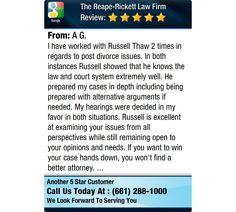 I have worked with Russell Thaw 2 times in regards to post divorce issues.  In both...