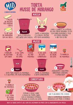 Sobremesa fácil de fazer para a sua ceia de Natal: torta com musse de morango usando refresco MID®