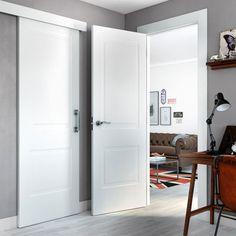 BAYONA BLANCA White Interior Doors, White Doors, Indoor Doors, Leroy Merlin, Wooden Doors, Tall Cabinet Storage, Sweet Home, New Homes, Interior Design