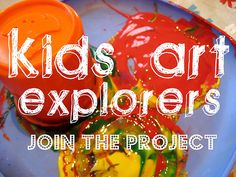 Each month the Kids Art Explorers project is taking a different art material and inviting kids to try it out and see what they can create. This month's material is yarn - want to come and join the project with your kids?
