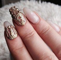 Online shop mns571 mix gold 3d metal nail art beauty stickers jewelry 20pcs for nails decoration