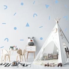 SHAPE COMBO WALL STICKERS - 25: Baby Blue