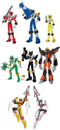 magna Operator 5 and other by Chen-Chan on DeviantArt Power Rangers Tattoo, Power Rangers Jungle Fury, Power Rangers Fan Art, Power Rangers Cosplay, Power Rangers Comic, Saban's Power Rangers, Power Rangers Megazord, Pawer Rangers, Mighty Morphin Power Rangers