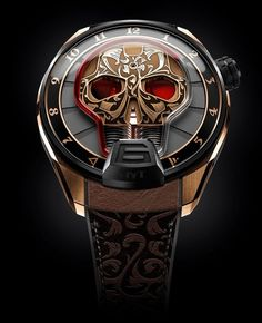 "HYT Skull Maori Watch - by Rob Nudds - aBlogtoWatch.com ""With the release of the HYT Skull Maori watch, the brand moves in a new direction. For the first time, we see the brand including traditional decorative techniques. The skull, which has been retained from the previous models in the HYT Skull collection, is now brought to life by intricate engraving in a Maori style. We're used to seeing HYT do something bonkers whenever they début a new piece... but this is offbeat in a different…"