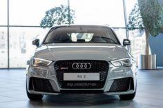 Gorgeous Nardo Gray Audi Exclusive RS3 caught on display at Audi Forum Neckarsulm