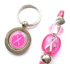 Sleutelhanger & pen voor Pink Ribbon close-up
