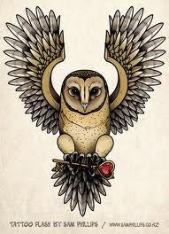 Open Wing Design Owl Tatoos Owl Tattoo Design Tattoos Tattoo