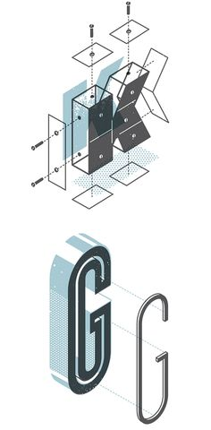 The Exploded Alphabet by Matt Stevens | Inspiration Grid | Design Inspiration
