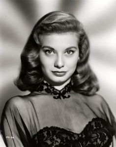 Peggy Dow. B.1928. She had a short but memorable career playing and starring in only 10 movies in a 3 year period,1949-51, including some crime noirs, the heart-felt Bright Victory and her best as the lovely nurse in Harvey with James Stewart. Peggy suddenly retired to marry oil magnate Walter Helmerich in 1951 and she never looked back, raising five sons in the process,  plus always seeming happy and content. I have a special fondness for her as she looked a lot like my Mother in certain…