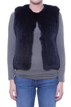 H Brand Celine Fur Vest   An ink-colored, hand knitted rabbit fur vest with hook and eye closure from Australian label H Brand. Pair with a black dress and black boots to create a sleek look for a night on the town. [Available from Perch on Shoptiques]