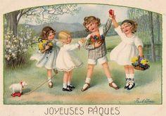 Pauli Ebner — Old Easter Post Cards Easter Greeting Cards, Vintage Greeting Cards, Vintage Ephemera, Easter Play, Easter Art, Vintage Birthday, Vintage Easter, Holiday Postcards, Vintage Postcards