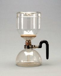 A GLASS 'SINTRAX' COFFEE MACHINE | GERHARD MARCKS FOR SCHOTT & GEN. JENAER GLASWERKE, JENNA, CIRCA 1925